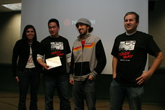 Team Awesome (mikepirnat) Tags: people team award agi aginteractive teamawesome davidchiang americangreetings hackday aaronrosenberg sarahdodge hackday2010 jadendevogel