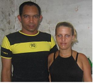 Darsis Ferrer y su esposa
