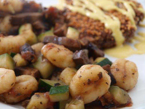 Gnocchi w/ Portabellas and Zucchini