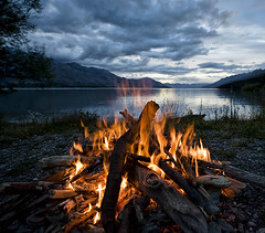 Would you like to sit by the campfire? (Ian@NZFlickr) Tags: new lake island fire bravo south flames zealand wakatipu flickrsbest