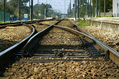 Estao de Bombel (Tiago Alves Miranda) Tags: portugal station track rail via bol agulha estao turnout bombel linhadoalentejo crxima tiagoalvesmiranda