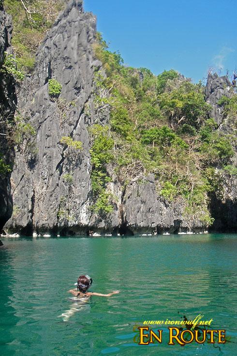 Miniloc Island Small Lagoon 50m drop