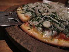 Spinach Pizza - Honey Bee Bakery & Pizzeria, Puri, India