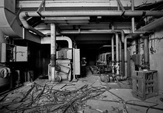 The Pump house II (NickChino) Tags: bw plant abandoned crust rust factory decay empty greece machinery textile urbanexploration derelict patras urbex patra        urbexeurope urbexgreece