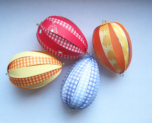 easter eggs designs on paper. Paper Easter Eggs