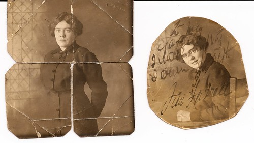Front Images: James Farrell's will written on photograph of his niece May Egan (Tierney)