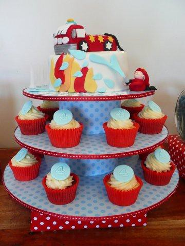 Fire Truck Birthday Cake on Fire Engine Birthday Cake And Cupcakes     Cupcake Pictures