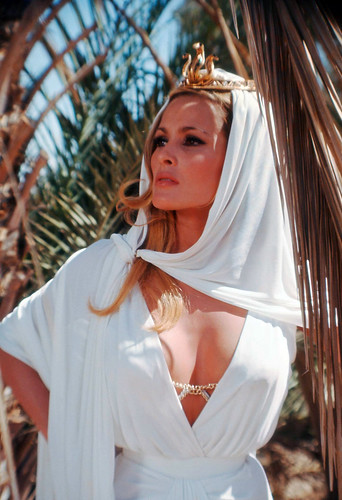 Ursula Andress in exotic dress