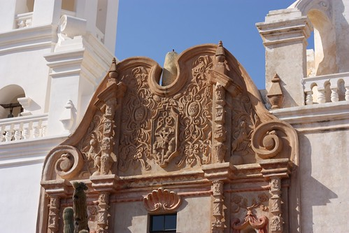 Front of San Xavier Mission