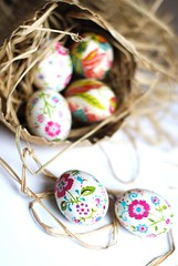eggs for Easter (rebeccalefeuvre) Tags: easter craft paintedeggs