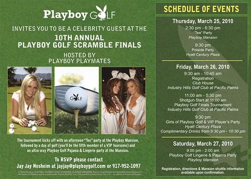 Playboy Golf Celebrity Classic, Lingerie & Pajama Party, Playboy Mansion
