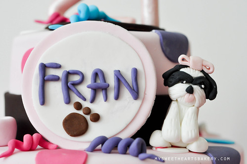 Dog Theme 21st Birthday Cake