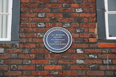 Photo of A. C. Benson blue plaque