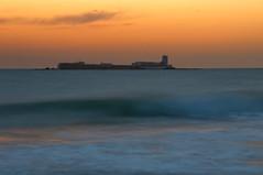 El final del da... (Portiman!) Tags: longexposure light sunset sea color luz atardecer mar nikon wave explore tones ocaso ola largaexposicin d90 tonos portiman
