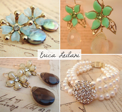 erica leilani designs, handmade upcycled jewelry