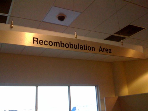 Milwaukee Airport has a Recombobulation Area. Awesome.