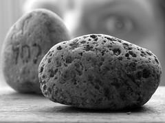 15/04/2010 (Day 4.105) - Little Rock (Kaptain Kobold) Tags: blackandwhite selfportrait macro eye rock alan stone bokeh littlerock name handsome hidden pebble identity definition 365 hebrew timer selfie ewe whatsinaname kaptainkobold trp 365days yourfave p365 365year4