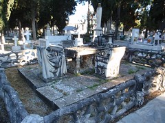 / Last dinner (Crazy Athens) Tags: cemetery grave dinnertable