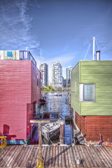 More Granville Island Houseboats (Basedigital Images (Away...)) Tags: sky canada water beautiful vancouver clouds canon boats harbor bc waterfront skyscrapers harbour britishcolumbia sigma highrise yaletown falsecreek granvilleisland 1020mm hdr highdynamicrange houseboats hdri sigma1020mm falsecreekferries photomatix highdynamicrangeimaging t1i canont1i basedigital