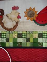 pano de prato  de galinha (Armazm das Artes2011) Tags: de patchwork tecido galinhas panodepratocomaplicao