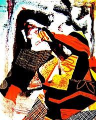 "23262656351_b35df2098a_b, ""emigrantes, padre con su hijita"" collagem, pluma de color sobre papel (THE ART OF STEFAN KRIKL) Tags: emigrantes dibujos collage drawings originalart"
