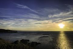 Punta del Segaño (Marcos Vázquez) Tags: sunset sea panorama españa landscape atardecer mar spain flickr paisaje galicia panoramica mugardos galician canoneos450d kitis travelsofhomerodyssey puntadelsegaño flickraward5