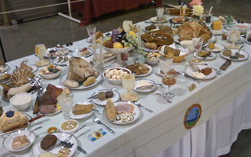 big food table