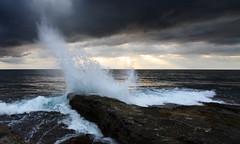 Depot Beach Sunrise (south*swell) Tags: ocean sea cloud water sunrise crash wave australia spray nsw depotbeach murramarang canon1022mm rockplatform murramarangnationalpark windsandandwater passiondclic passionabsolum passionultimate
