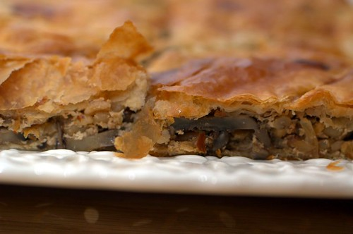 mushroom barley pie