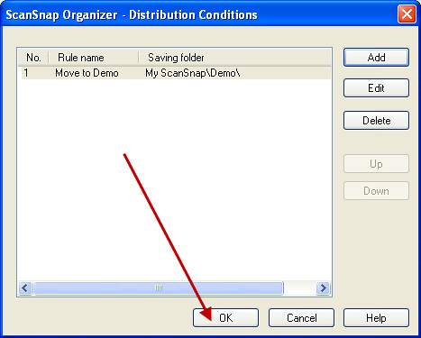 How Can I Use the Distribute by Keyword Feature in the ScanSnap Organizer Software Available with the S1500?_7