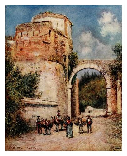 033-Granada-Acueducto de la Alhambra-Southern Spain 1908- Trevor Haddon