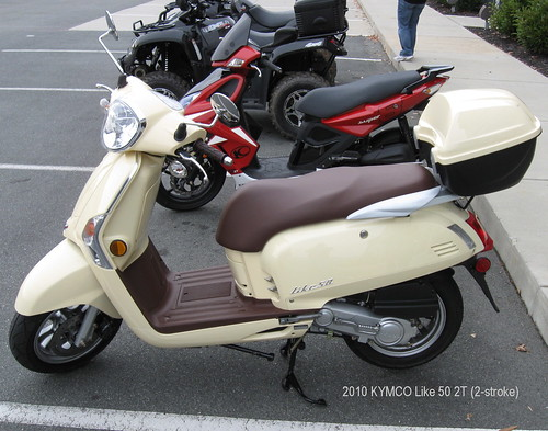 KYMCO Like 50 2T is hitting some dealer showrooms here in N.C.
