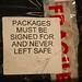 Sign - Never Leave Safe