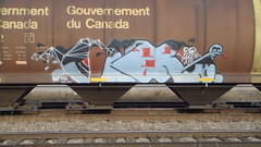 Causr (Fr8 Fiend) Tags: train bench graffiti track graf rail dp graff freight pz vts freightcar benching causr
