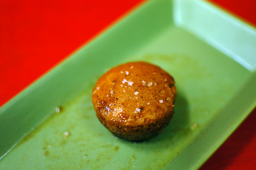 Mini Caramel Cake From a Rice Wine Cup