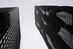 """Architecture is Like Frozen Music""- Goethe (1836), Aqua Tower, Chicago, 2009 (jeffery c johnson) Tags: street urban usa chicago art beautiful skyline architecture america skyscraper illinois midwest studiogang aquatower jeannegang"