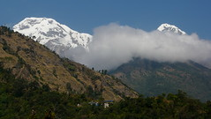 ABC from Jhinu hot springs, Nepal. (Eric Lon) Tags: nepal trek abc himalaya sanctuary annapurnas ericlon
