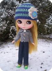 Devon enjoying the snow