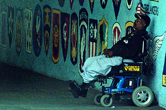 The Casualties of War (Culture Shlock) Tags: street war flag wheelchair patriotic vietnam disabled patriot veterans batallions