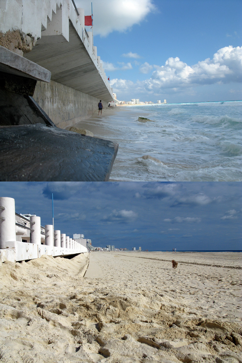 Playa Marlin Cancun Before and After Beach Reconstruction