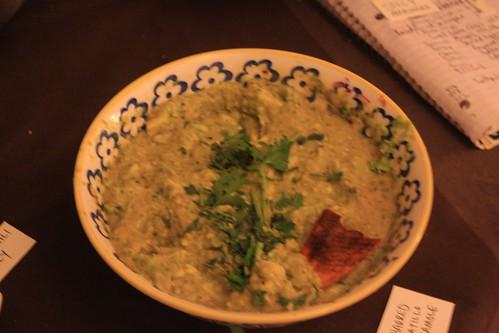 Charred Tomatillo Guacamole.