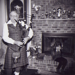 Bagpipes are too loud (loganbertram) Tags: new party people music 120 photography holga band years bagpipes logan bertram sulking loganbertram loganbertramphotography