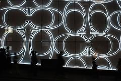 Coach (Mel@photo break) Tags: china street light people hk white black shop night dark hongkong evening coach pattern soho central mel pedestrians melinda brand luxury nite 20mmf28 sooc chanmelmel