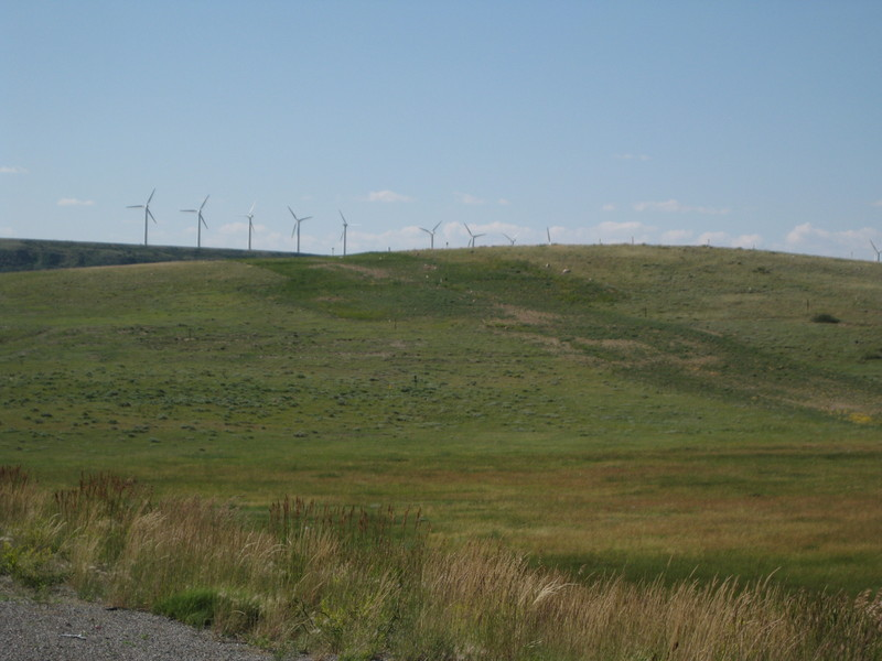 Windfarm on a hill