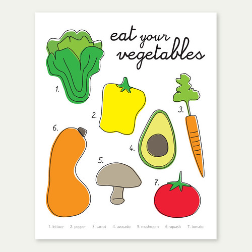 'eat your vegetables' 8x10 print