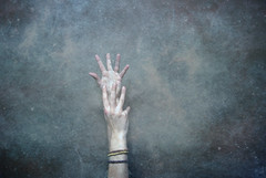 (maggie short) Tags: portrait texture me night photoshop self bathroom hands arms reaching maggie short yuck reach sick throat starry sore maggieshort