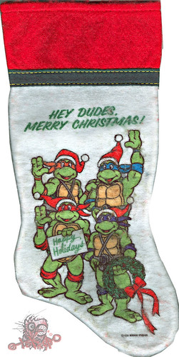 "International Silver Company :: ""Teenage Mutant Ninja Turtles""  - 'HEY DUDES,MERRY CHRISTMAS ! '  (( 1990 ))"