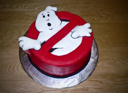 ghostbuster cake fondant carved birthday eggless
