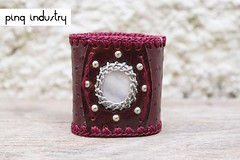 pulseira-vinho-cit2 (Pinq Industry) Tags: leather pedra couro