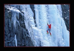 Up Against The Wall (Photographic Poetry) Tags: winter cold ice nature climb frozen iceman 1001nights ascend 1001nightsmagiccity